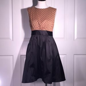 Emily and Fin ModCloth A line polka dot tea dress